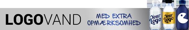 Logovand med ekstra opmærksomhed - Reklamevand