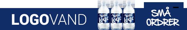 Logovand i små ordrer - Reklamevand med dit budskab