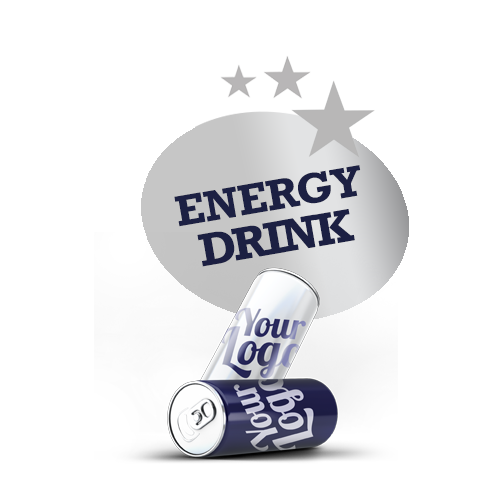 Branded energy drink - Your logo / branding on the can